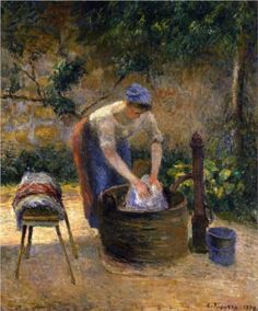The Laundry Woman - Camille Pissarro