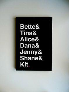 Lovely Ladies Poster. $15.00, via Etsy.    Peabbles & Co.