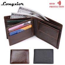 0a969f805 R$ 52.57 |Carteira de couro de Cavalo louco homens zipper homens de alta  qualidade carteiras bolsa de couro com bolso de moedas carteira masculina  bolsa de ...