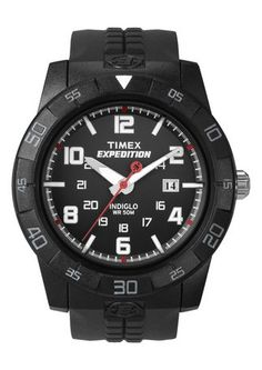 New Men's Timex Expedition Rugged Core Analog Resin Strap Watch Rugged Watches, All Black Watches, Watches For Men, Field Watches, Sport Watches, Durable Watches, Timex Expedition, Timex Watches, Men's Watches