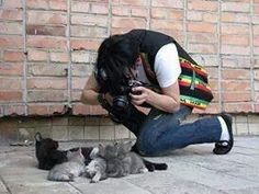Michael Jackson flat cat photo shoot.