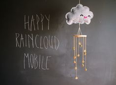 DIY happy rain cloud mobile