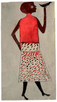 Bill Traylor : Woman with Bird                                                                                                                                                                                 More