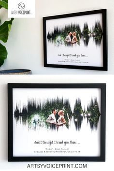 Photo & Song - Paper Anniversary Gift - Artsy Voiceprint ™ provides personalized soundwave art for anniversaries, weddings, & many more special events. Turn your favorite song or baby's heartbeat into unique custom artwork! Cute Wedding Ideas, Wedding Pictures, Perfect Wedding, Fall Wedding, Rustic Wedding, Our Wedding, Wedding Gifts, Dream Wedding, 1st Anniversary Gifts