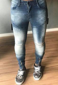 ff7227f6f 39 melhores imagens de Calças Jeans Masculinas