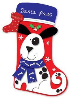 Dog 'Santa Paws' Pet Christmas Stocking: Amazon.co.uk: Kitchen & Home