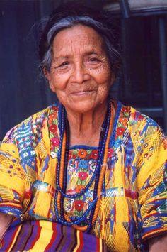 Mayan woman wearing San Juan sacatepequez huipil - Google Search