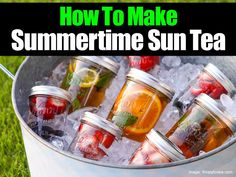 Thirsty for tea? Well you've come to the right place. Today we will be sharing about a specific tea, Sun Tea but with a twist… Flavored! Here's what others say about the idea of flavored fruity Sun Tea! We make sun tea every summer….now we'll be adding fruits to it! Been looking for something different …