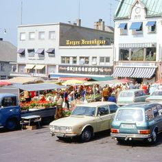 """Open air market,  Tonsberg, Norway 1976. #tbt #vintagegram #norway"""