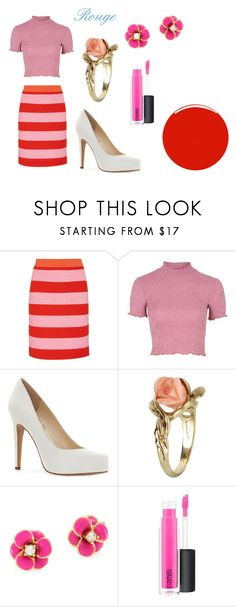 """""""Rouge GP TCA Red Carpet"""" by pgrace348 on Polyvore featuring Boutique Moschino, Topshop, Jessica Simpson, Vintage, Kate Spade, MAC Cosmetics and Christian Louboutin"""