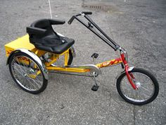 Recreational Tricycles, Adult Three Wheeler from Worksman Cycles. We offer a great variety of three wheel cycles that allow people of all ages and sizes to benefit from the riding experience. Tricycle Bike, Adult Tricycle, Trike Bicycle, Three Wheel Bicycle, Custom Trikes, Car Part Furniture, Pedal Cars, Bicycle Design, Go Kart