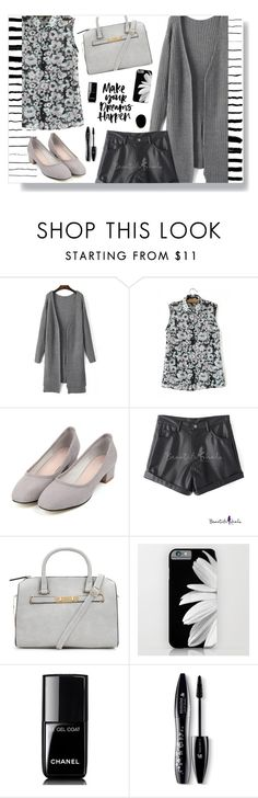 """""""Black and white _ beautiful halo"""" by by-jwp on Polyvore featuring Glamorous, Chanel, Lancôme, Kenneth Jay Lane, women's clothing, women, female, woman, misses and juniors"""