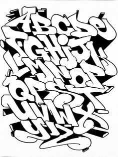 Alphabet Graffiti Lettering Alphabet, Graffiti Text, Tattoo Lettering Fonts, Graffiti Tagging, Cool Lettering, Street Art Graffiti, Lettering Design, Wildstyle, Graffiti Styles