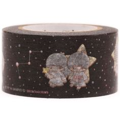 cute Little Twin Stars constellation dot mt Washi Masking Tape deco tape 2