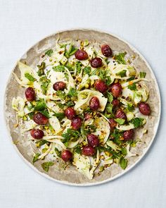 Yotam Ottolenghi's fennel salad with pistachios and oven-dried grapes