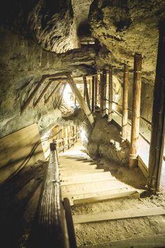 Underground journey under the earth in the salt mines of Bex. Lake Geneva, Alps, Hiking, Journey, Earth, Walks, Trekking, Hill Walking, World