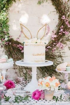 What a stunning cake at this Easter Party! Such a wonderful rustic feel!! See more party decor & food ideas and share yours at CatchMyParty.com