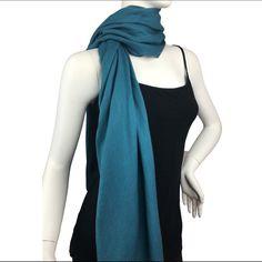 5/$25 Lil+Lo Blue Pashminas Style Scarf / Wrap