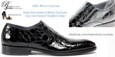001 Rina's #Couture - Men's #Leather #Shoe  $395 or Make an Offer   http://www.rinastore.com/001-rinas-couture-shoes:-black/dp/5887 Rina's Boutique's own brand. Made in #Italy.