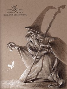 ArtStation - Wizards Like Moths, Kevin Keele Cartoon Drawings, Drawing Sketches, Art Drawings, Sketching, Amazing Drawings, Amazing Art, Awesome, Character Illustration, Illustration Art