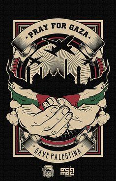 PRAY FOR GAZA by Del Studios, via Behance