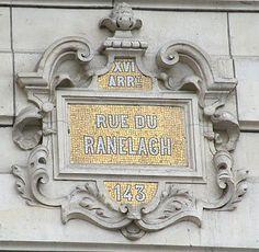 La rue du Ranelagh  (Paris 16ème).