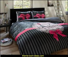 Sleeptime Duvet Cover Set I Love Paris Pink