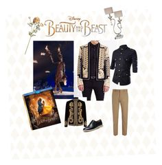 """""""Lumière, the smart and charming sidekick."""" by camilla-fernandes-abreu ❤ liked on Polyvore featuring Barclay Butera, Disney, Balmain, Alexander McQueen, Joseph, men's fashion, menswear, BeautyandtheBeast and contestentry"""