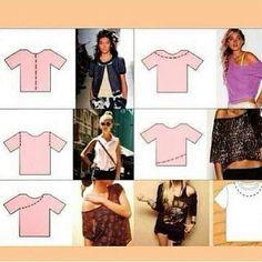 Dyi cut shirts