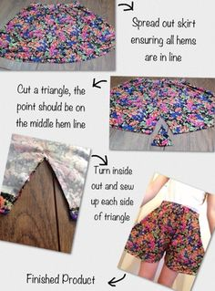 Hey Cliquers! This is a super fun, easy idea on how to turn an old skirt into one of those pairs of shorts that still make it look like you...