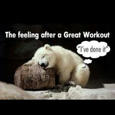 The feeling after a great workout! #Fitness #Humour