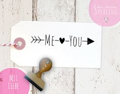 "Stempel ""Me & You"" // Stamp ""Me & You"" by Der kleine Sperling via DaWanda.com"