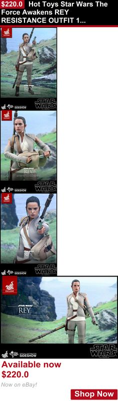 Telescopes: Hot Toys Star Wars The Force Awakens Rey Resistance Outfit 12 Figure 1/6 Scale BUY IT NOW ONLY: $220.0