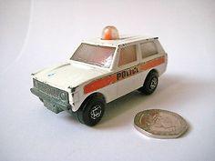 "Vint MATCHBOX LESNEY ""Rolamatics"" - No.20 RANGE ROVER POLICE PATROL CAR - 1975 - http://www.matchbox-lesney.com/?p=13555"