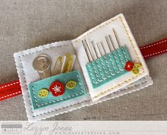 Don't Forget To Write: Quick Stitch: Sewing Staples Kit Needle Book Interior by Lizzie Jones for Papertrey Ink (February Needle Case, Needle Book, Sewing Hacks, Sewing Crafts, Sewing Kits, Sewing Tutorials, Sewing Ideas, Sewing Case, Sewing Accessories