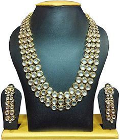 Indian Traditional Partywear Designer Women Kundan Necklace Set Jewelry Sets Jewelry & Watches