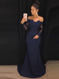 Navy Prom Dresses, Prom Dresses Blue, Prom Dresses Long, Mermaid Prom Dresses, Prom Dresses With Sleeves Prom Dresses 2019 Tight Prom Dresses, Navy Blue Prom Dresses, Mermaid Bridesmaid Dresses, Elegant Bridesmaid Dresses, Prom Dresses Long With Sleeves, Lace Bridesmaid Dresses, Mermaid Dresses, Wedding Party Dresses, Prom Gowns