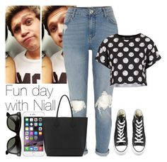 """""""Fun day with Niall"""" by lottieaf ❤ liked on Polyvore featuring River Island, Converse, Topshop, Mulberry and Ray-Ban"""