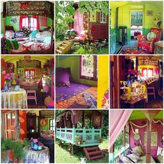 I love the vibrant colors, and eclectic patterns and textures of Boho decor! Bohemian Design, Bohemian Decor, Gypsy Trailer, Gypsy Wagon, Bohemian Living, Dark Bohemian, Bohemian House, Estilo Boho, Eclectic Decor