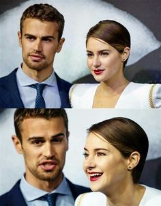 Shailene Woodley and Theo James, they are seriously too cute.