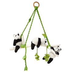 panda mobile brings a lazy touch of storybook style to your little one's nursery or playroom. Handgemachtes Baby, Baby Toys, Panda Kindergarten, Baby Shower Gifts, Baby Gifts, Panda Bebe, Panda Panda, Panda Baby Showers, Panda Nursery