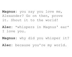 My world ... shadowhunters, alexander 'alec' lightwood, magnus bane, the mortal instruments, malec