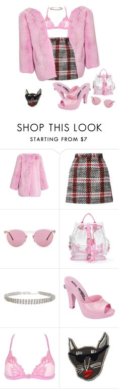 """""""Daddy's girl"""" by stylebyami ❤ liked on Polyvore featuring Gucci, Carven, Oliver Peoples, Humble Chic, Melissa, La Perla and Supersweet"""