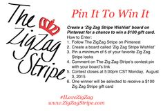 Pin It To Win It - Zig Zag Stripe Wishlist