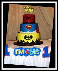 Inspiration for a Superhero cake I'm making this weekend.
