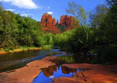 Cathedral Rock~Reflections by Joel Rivera