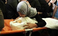 PHOTO: Mother saying goodbye to her daughter killed in besieged #Gaza by #Israel…