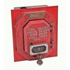 early 1930's wall flush mount wheelock fire alarm red enameled cast iron station box - signal engineering & mfg. co.  UR #: UR-5324-10