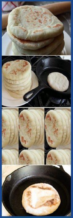 Descubre cómo hacer pan de pita casero: ¡riquísimo y sano! Si te gusta dinos HOLA y dale a Me Gusta MIREN … Grilled Flatbread, Homemade Pita Bread, Salty Foods, Pan Dulce, Pan Bread, Snacks, Sin Gluten, Gluten Free, Gastronomia