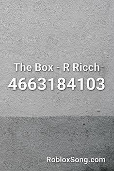 Roddy R - The Box Roblox ID - Roblox Music Codes in 2020 ...